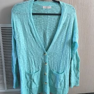 Abercrombie and Fitch Aqua Cardigan, size large